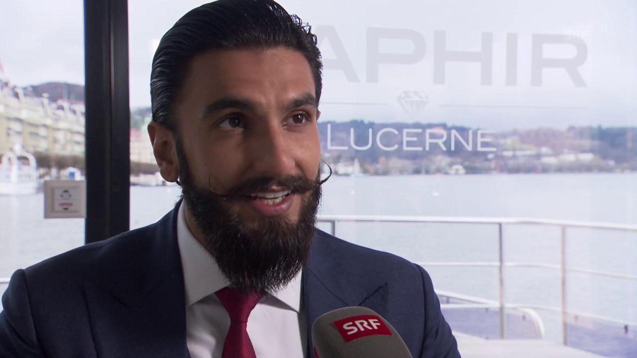 Ranveer Singh in der Schweiz
