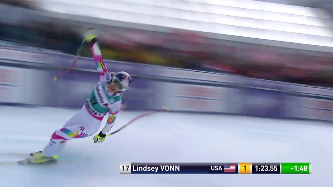 Ski alpin: Weltcup Frauen, Super-G St. Moritz, Lindsey Vonn