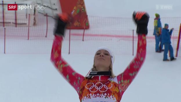 Video «Ski: Der grosse Sieg der Maria Höfl-Riesch» abspielen