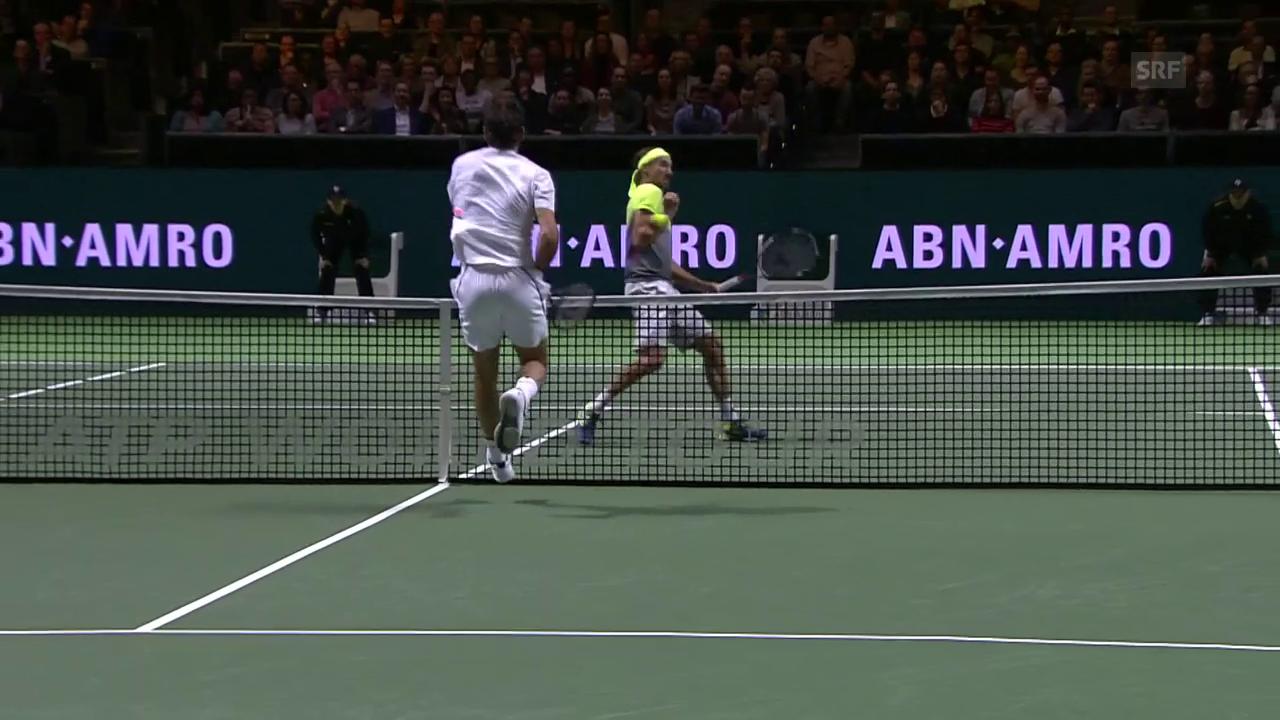 Federers schnelle Beine und gnadenloser Abschuss