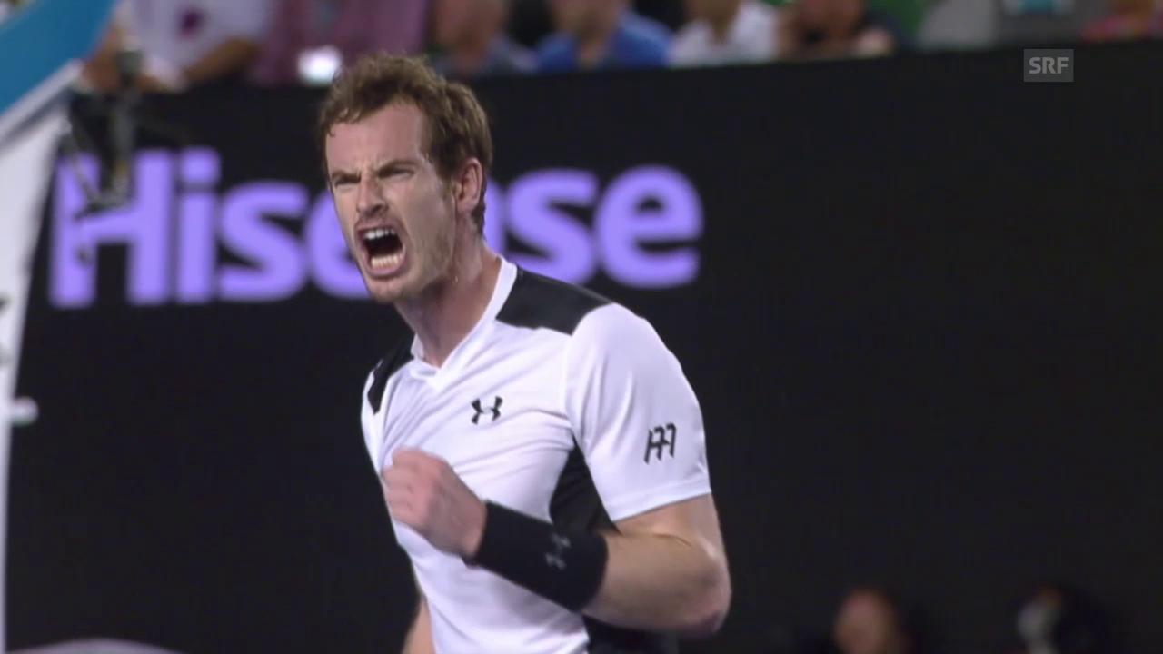 Andy Murray zieht nach Viersatz-Sieg über David Ferrer in den Halbfinal der Australian Open ein