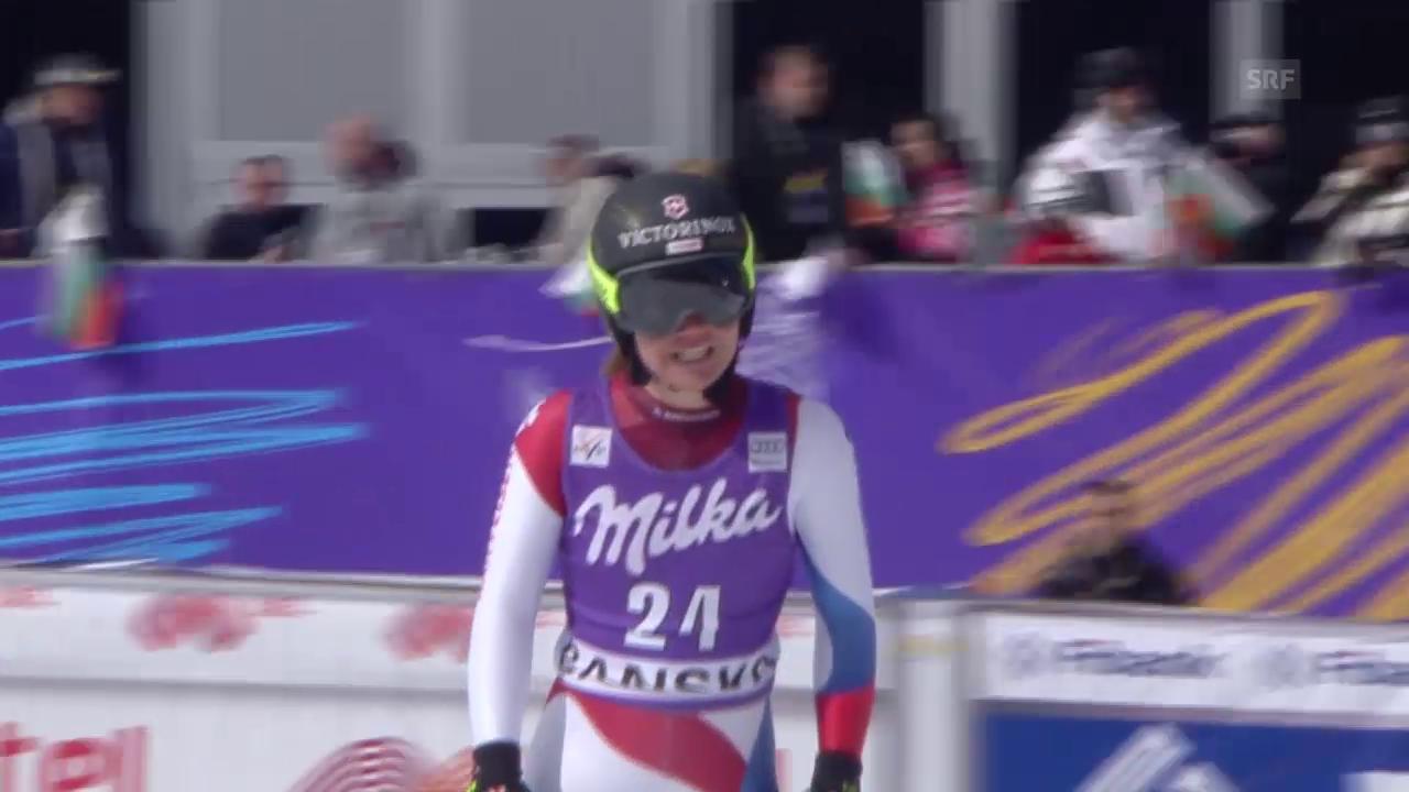 Ski alpin: Super-G der Frauen in Bansko, Fahrt von Fabienne Suter