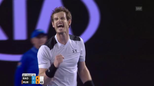 Video «Murray ringt Raonic nieder» abspielen