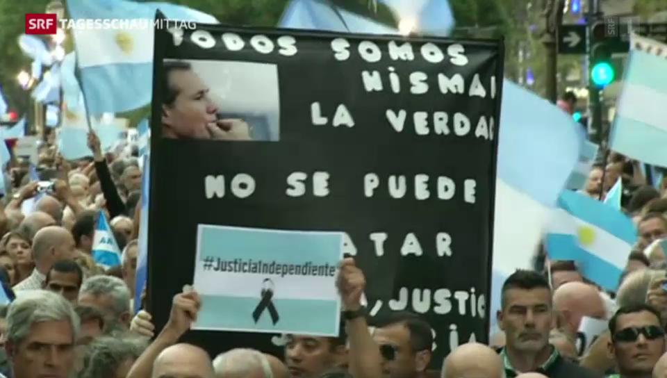 Schweigemarsch in Buenos Aires