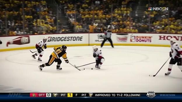 Video «Phil Kessel schiesst Pittsburgh zum Sieg über Ottawa» abspielen