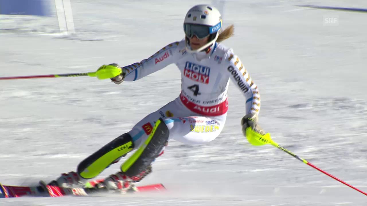 Ski-WM Vail/Beaver Creek, Slalom Frauen, 2. Lauf Hansdotter
