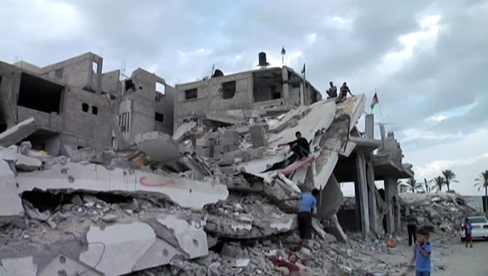 Zerstörte Häuser in Gaza (unkommentiert)