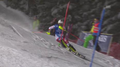 Video «Holdener überzeugt im 2. Lauf» abspielen