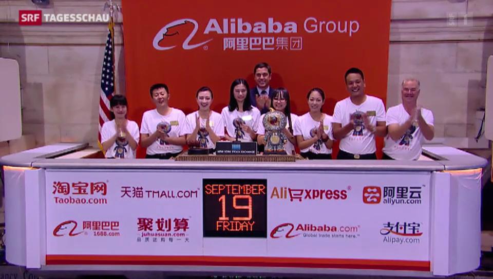 Börse im Alibaba-Fieber