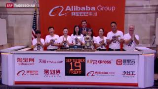 Video «Börse im Alibaba-Fieber» abspielen
