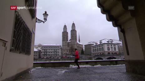 Video «Toptalent Sclabas brilliert an ihrem 1. Silvesterlauf» abspielen