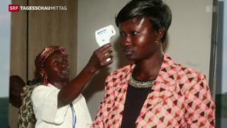Video «Fieberkontrollen an US-Flughäfen wegen Ebola» abspielen