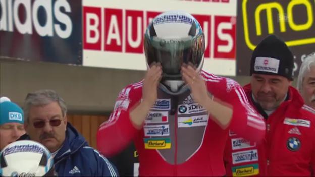 Video «Bob-WM: Der 4. Lauf von Hefti» abspielen