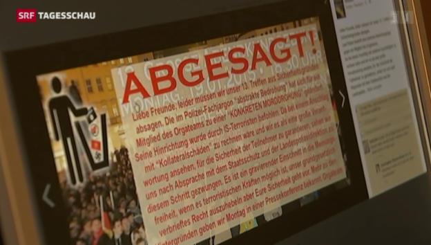 Video «Pegida-Demo in Dresden abgesagt» abspielen