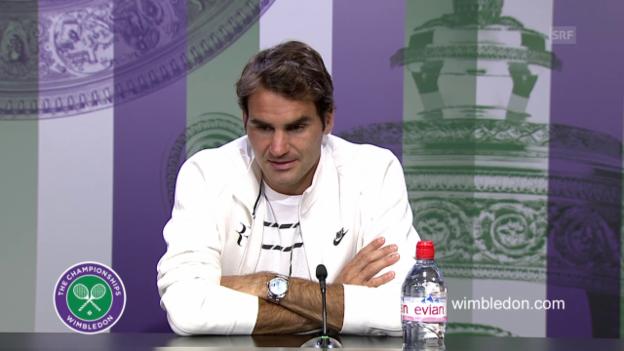 Video «Tennis: Wimbledon, Pressekonferenz Federer» abspielen
