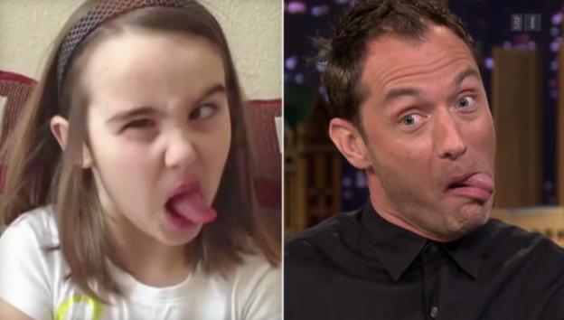 Video «Jude Law beweist Humor – Annina Frey auch» abspielen