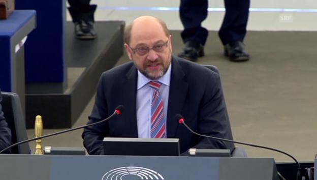 Video «EU-Parlamentspräsident Schulz greift durch» abspielen
