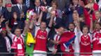 Video «Arsenal und Xhaka gewinnen turbulenten FA-Cup-Final» abspielen