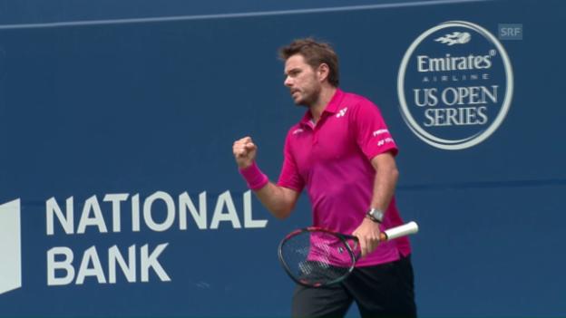 Video «Wawrinka nach starker Leistung im Halbfinal von Toronto» abspielen