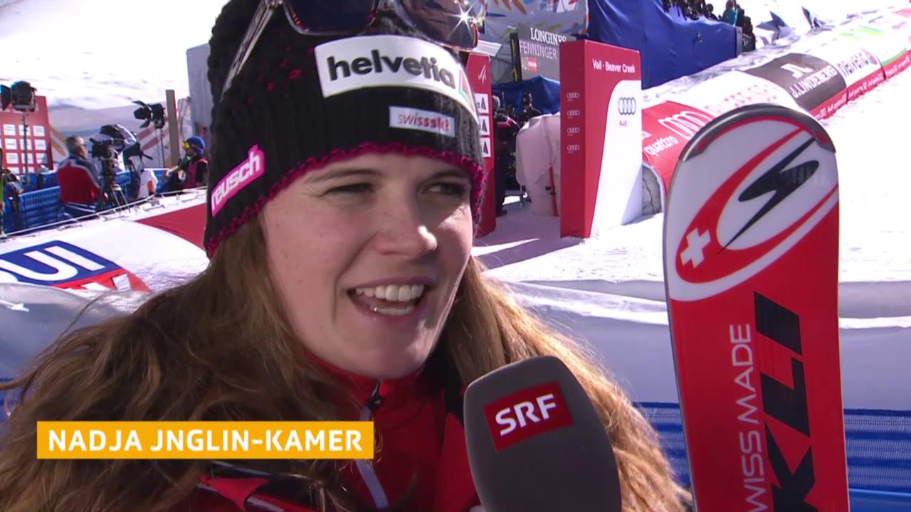 Ski: WM 2015 Vail/Beaver Creek, Abfahrt Frauen, Interview Nadja Jnglin-Kamer