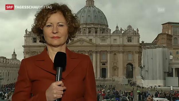 Video «Korrespondentin Beatrice Müller mit Einschätzungen aus Rom» abspielen