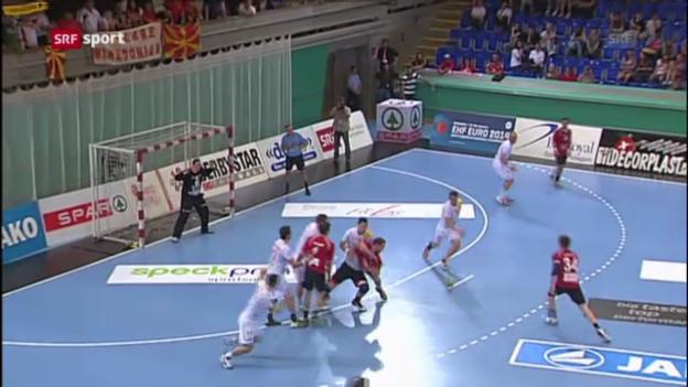Video «Schweiz - Mazedonien («sportaktuell»)» abspielen