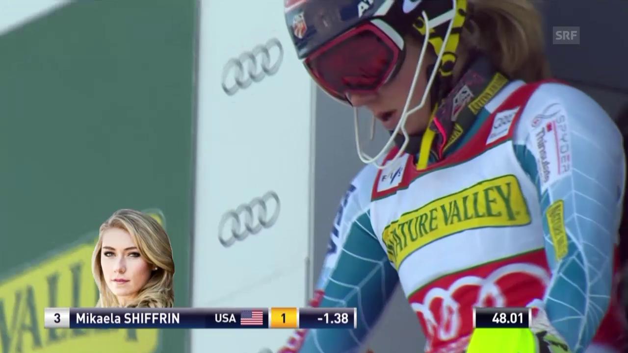 Ski Alpin: Slalom Aspen, 2. Lauf, Mikaela Shiffrin