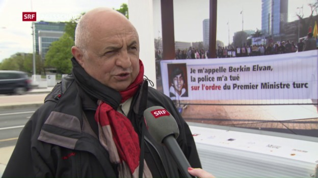 Video «Türkei reagiert auf Plakat-Ausstellung in Genf» abspielen
