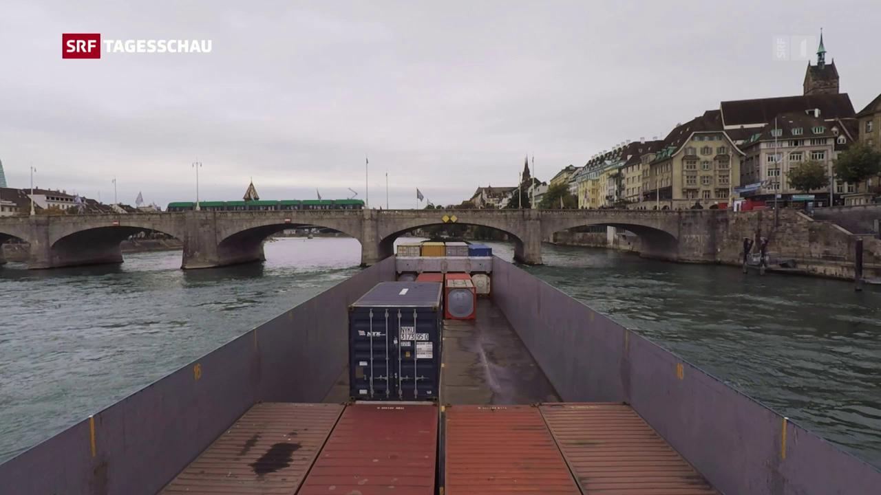 Bahn-Sperrung bescherte Basel Super-Frachter