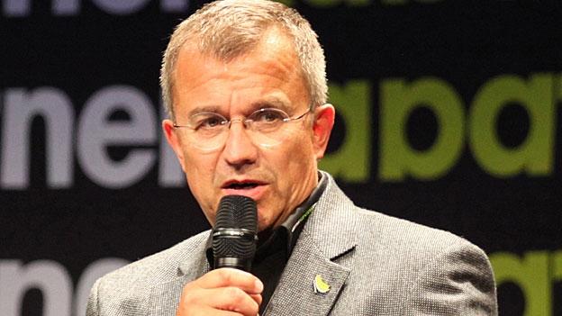 Claude Schoch, Leiter Kabaretttage Olten, im Gespräch mit Christiane Büchli (17.5.2014)