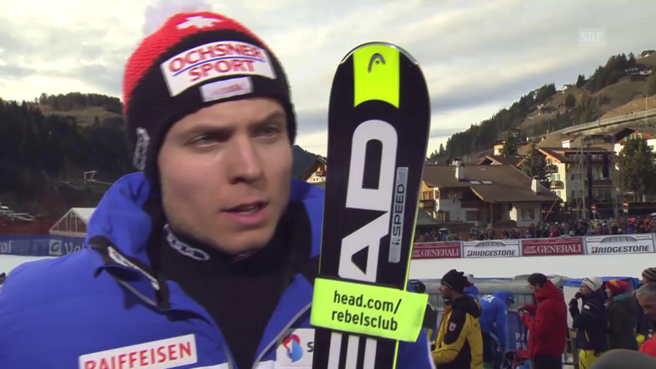 Ski: SG Gröden, Interview Weber
