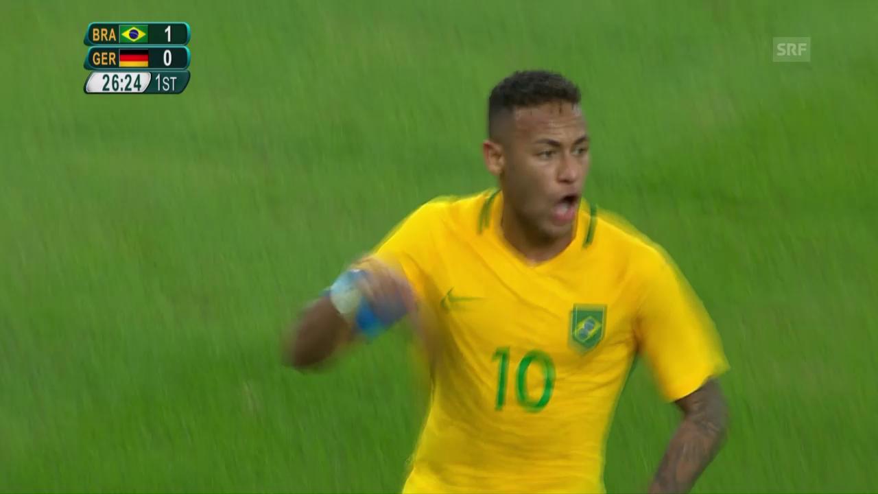 Neymars Traumfreistoss ins deutsche Herz