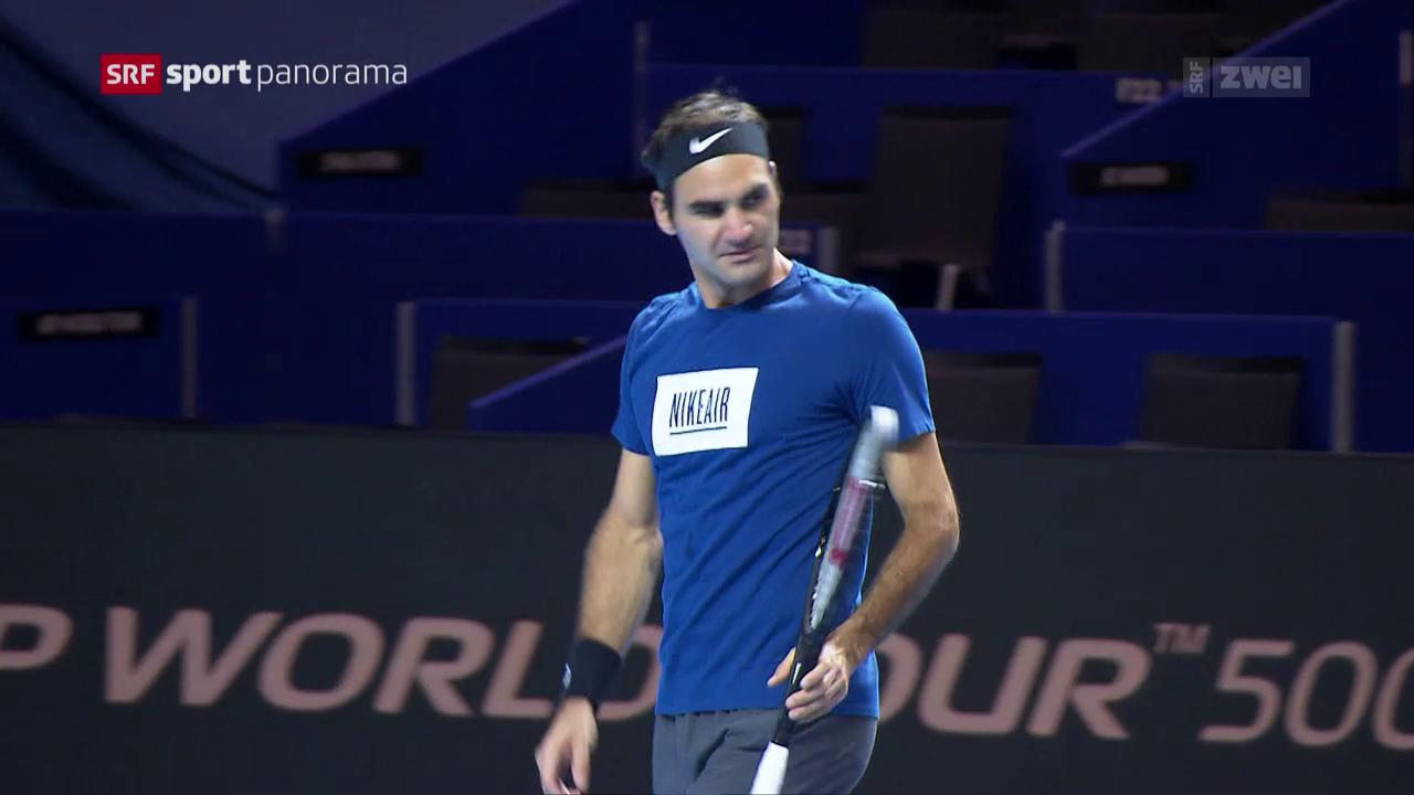 Roger Federer vor den Swiss Indoors Basel
