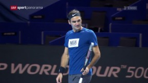 Video «Tennis: Roger Federer vor den Swiss Indoors Basel» abspielen