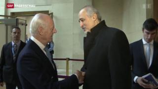 Video «Zähe Friedensverhandlungen im Syrien-Krieg» abspielen