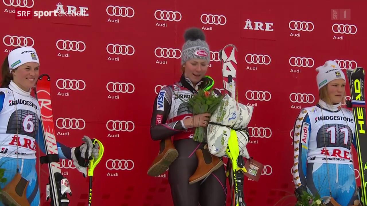 Ski alpin: Slalom der Frauen in Are