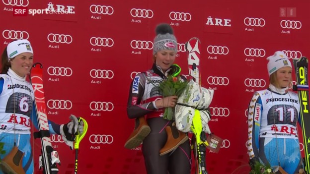 Video «Ski alpin: Slalom der Frauen in Are» abspielen