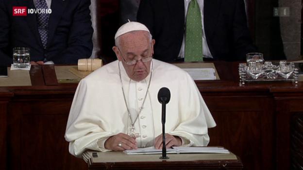 Video «Papst hält historische Rede vor dem US-Senat» abspielen