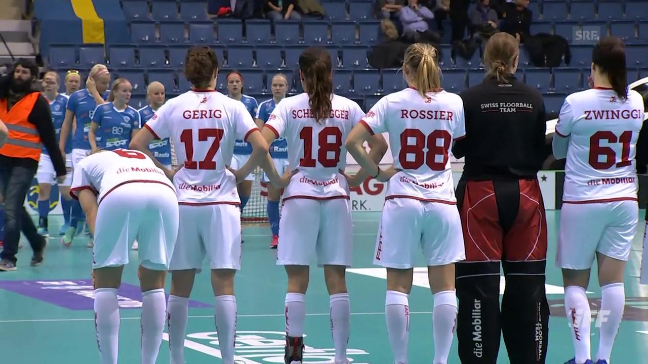 Die Schweizer Unihockeyanerinnen unterliegen Finnland