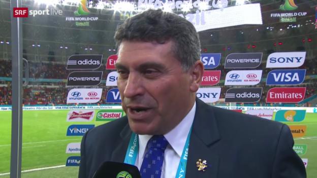 Video «Frankreich - Honduras: Interview mit Luis Fernando Suarez» abspielen