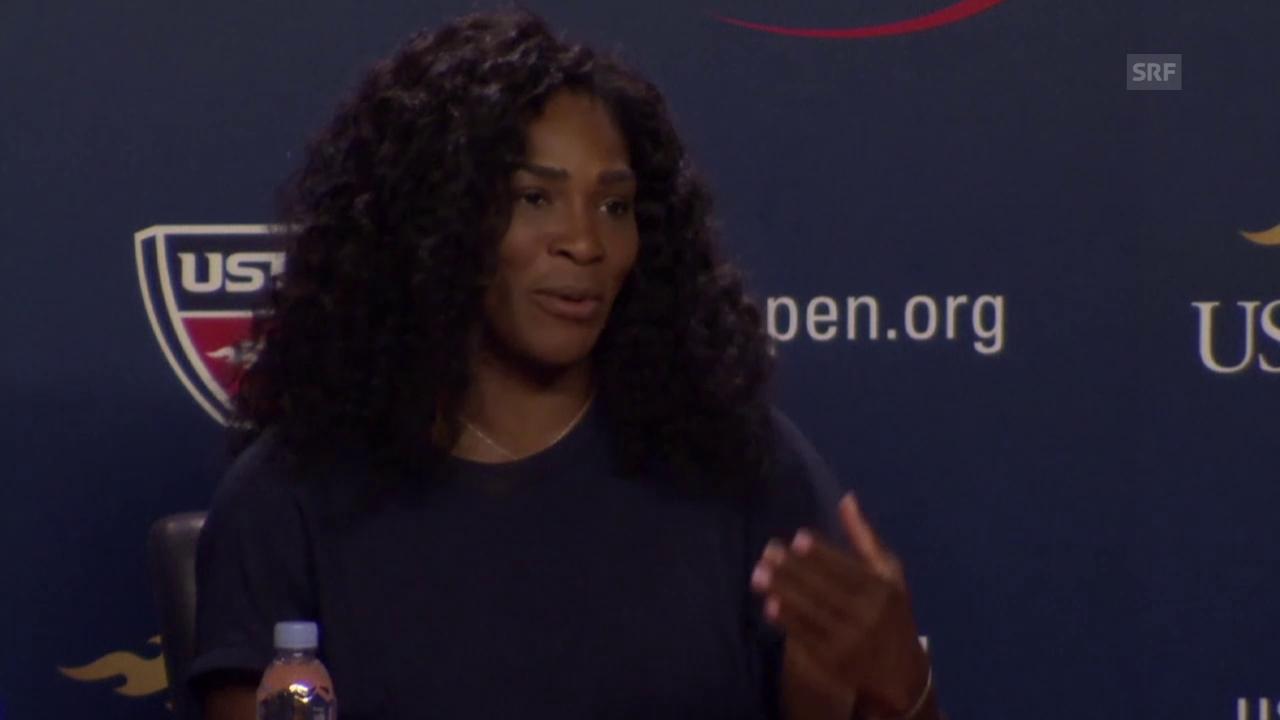 Tennis: Serena Williams an der Medienkonferenz (Englisch, Quelle: SNTV)