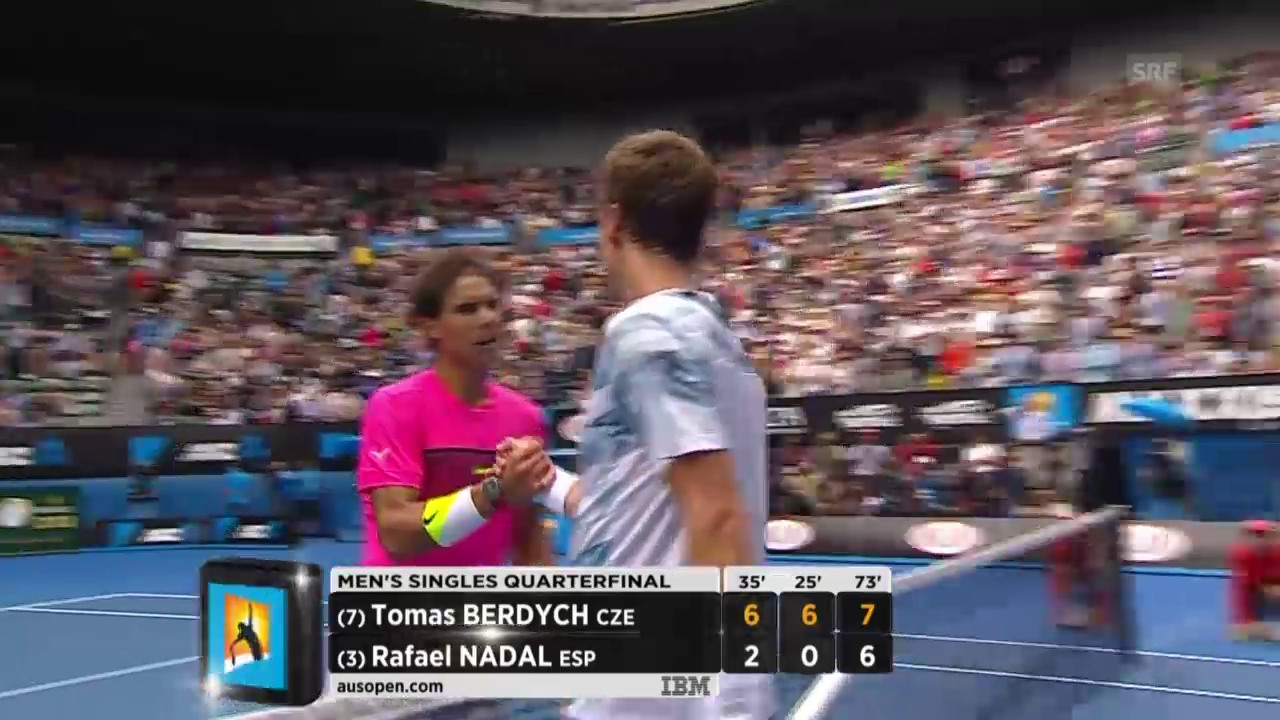 Tennis: Berdych-Nadal