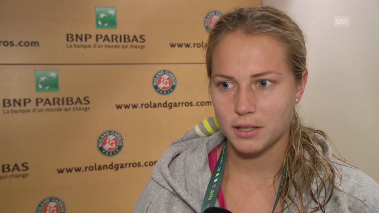 Tennis: French Open, Interview Stefanie Vögele