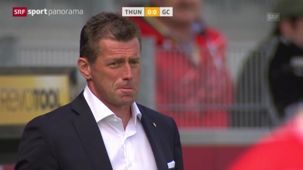 Video «Fussball: Super League, Zusammenfassung Thun - GC («sportpanorama»)» abspielen