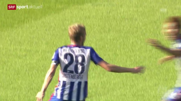 Video «Fussball: Siegestor von Fabian Lustenberger» abspielen