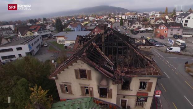 Video «Polizei vermutet Brandstiftung» abspielen