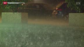 Video «Heftige Gewitter nach Hitzetag» abspielen