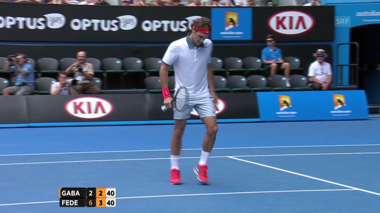 Tennis: Australian Open, 3. Runde, Federer - Gabaschwili
