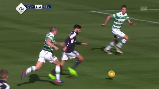 Video «Herrlicher Treffer von Dundees El Bachtaoui gegen Celtic» abspielen