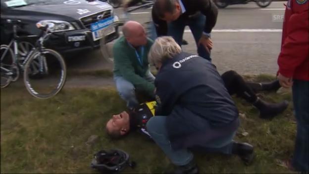 Video «Rad: Sturz von Tom Boonen» abspielen